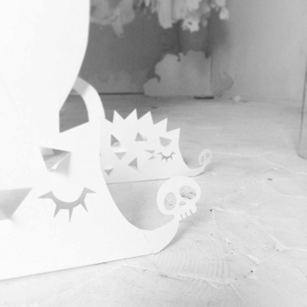 Herisson papier origami enfant